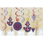 12 Swirl Decoration Anchors Aweigh