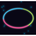 4 Glow Necklaces Tri-Colour Plastic 60 cm