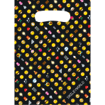 8 Party Bags Smiley Emoticons Plastic 23.4 x 16.2 cm