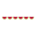 Garland Fan Watermelon Paper 182 cm