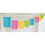 Lantern Garland Multicolour Paper 365 cm