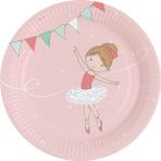 8 Plates Little Dancer Round Papier 23 cm