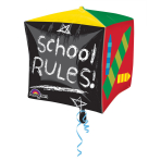 Cubez School Days School RulesFoil Balloon G20 Packaged 38  x 38 cm
