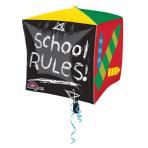 Cubez School Days School RulesFoil Balloon G20 Packaged 38  x 38 cm