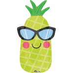 "Junior Shape ""Fun in the Sun Pineapple"" Foil Balloon, S50, packed, 30 x 66cm"