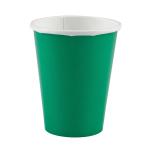 20 Cups Festive Green Paper 266 ml