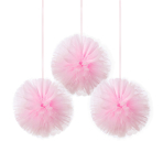 3 Fluffy Decorations Little Dancer Tulle 30.4 cm