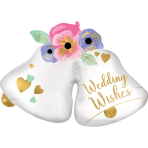 SuperShape Wedding Bells Foil Balloon P35 Packaged