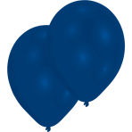 10 Latex Balloons Standard Blue 27.5 cm / 11""
