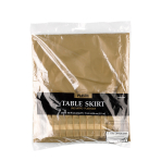 Table Skirt Plastic Gold 426 x73 cm