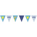Pennant Banner Christening Day - Blue Foil 396 x 20 cm