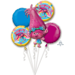 "Bouquet ""Trolls"" 5 Foil Balloons  , P75, packed,"