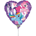 9'' My Little Pony Heart Foil Balloon A20 Air Filled 23 cm