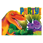 8 Invitations & Envelopes Prehistoric Party