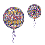 Orbz Happy New Year Disco BallFoil Balloon G20 Packaged