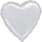 Jumbo Heart Metallic Silver Foil Balloon P30 Bulk