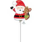 "Mini Shape ""Santa & Reindeer"" Foil Balloon, A30, bulk"