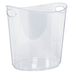 Ice Bucket Plastic Clear 22 x 24 x 19 cm