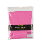 Table Skirt Bright Pink Plastic 426 x 73 cm