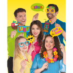 Photo Booth Kit Summer Luau Paper / Plastic 13 Pieces 35.5 x 21.5 cm