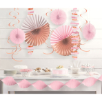 Decoration Kit Rose Gold Blush Paper / Foil 14 Parts 274 cm / 213 cm / 20.3 - 55.8 cm