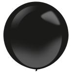 "4 Latex Balloons Decorator Fashion Jet Black 61 cm / 24"""