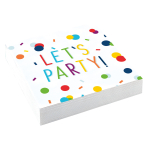 20 Napkins Confetti Birthday 25 x 25 cm