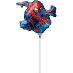 """Mini Shape """"Spider-Man"""" Foil Balloon  , A30, bulk, 17 x 25cm"""