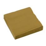 20 Napkins Gold 25 x 25 cm
