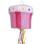 Pull Pinata Cupcake Paper / Plastic 27.7 x 24.5 x 27.7 cm