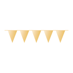 Pennant Banner Gold Plastic 1000 x 32 cm
