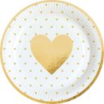 8 Plates Everyday Love Round Paper 23 cm