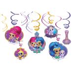 6 Swirl Decorations Shimmer & Shine
