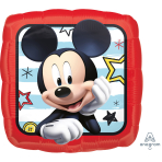 """Standard """"Mickey Roadster Racers"""" Foil Balloon Square , S60, packed, 43cm"""