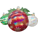 SuperShape Iridescent Ornaments Holographic Foil Balloon, P40 packaged