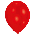 50 Latex Balloons red 27.5cm/11""