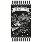 Sign Banner Chalkboard Birthday 85,1 x 165 cm