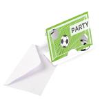 8 Invitation Cards Kicker Party