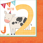 16 Napkins Barnyard Birthday 2nd Birthday 33 x 33 cm