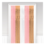 Door Curtain Rose Gold Blush Plastic 243 x 91.4 cm