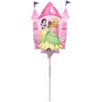"Mini Shape ""Multi-Princess Castle"" Foil Balloon, A30, airfilled, 25 x 33cm"
