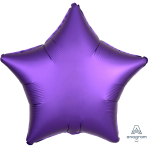 "Standard ""Satin Luxe Purple Royale"" Foil Balloon Star, S15, packed, 43cm"