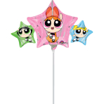 "Mini Shape ""Powerpuff Girls"" Foil Balloon, A30, bulk, 43 x 22cm"