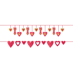 2 Foil Banners Valentine's Day 365 cm