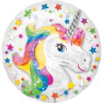"Insiders Rainbow Unicorn Foil Balloon P60 Packaged 24""/60cm w x 24""/60cm h"