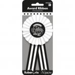 Award Ribbon Chalkboard Birthday Fabric / Paper 7.9 x 14.6 c