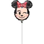 "Mini Shape ""Minnie Mouse Emoticon"" Foil Balloon  , A30, airfilled, 22 x 22cm"