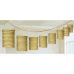 Lantern Garland Gold Paper 365 cm