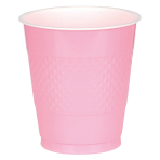 20 Cups New Pink Plastic 355 m