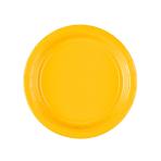 20 Plates Sunshine Yellow Paper Round 17.7 cm